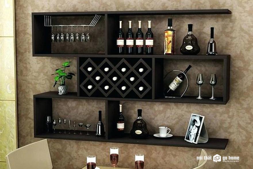 Mẫu tủ rượu treo tường phòng khách đẹp