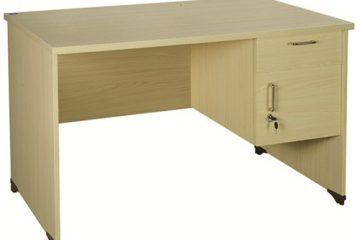Mẫu bàn hộc treo phổ biến trong các văn phòng công ty