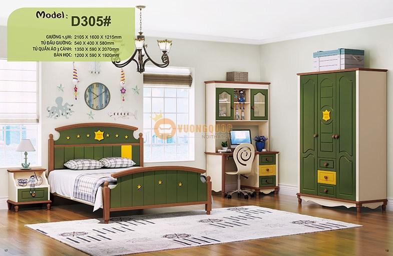 Phòng ngủ cho trẻ em nhập khẩu HHMD305
