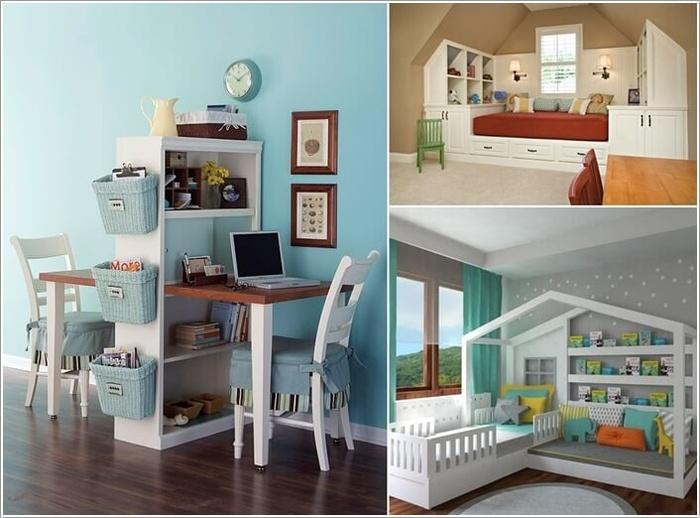 Ý tưởng trang trí phòng ngủ con gái đẹp với nội thất đa năng