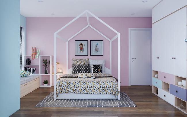 Ý tưởng trang trí phòng ngủ bé gái hiện đại