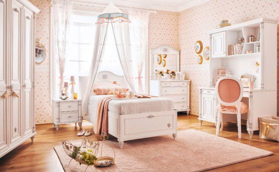 Ý tưởng trang trí phòng ngủ bé gái màu hồng
