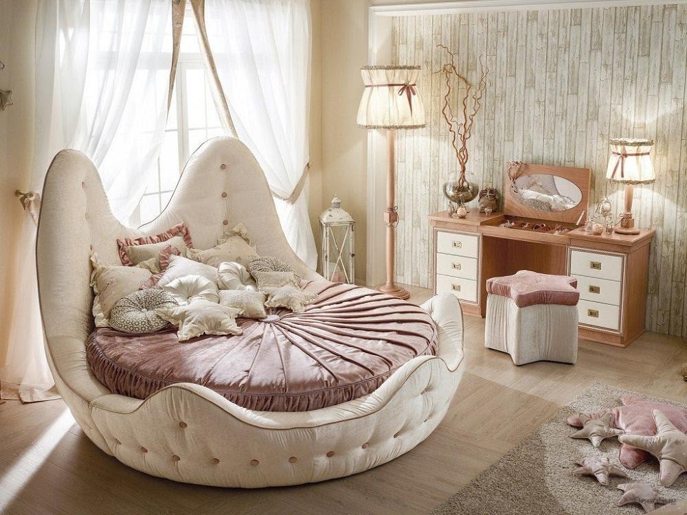 Mẫu giường ngủ tròn công chúa
