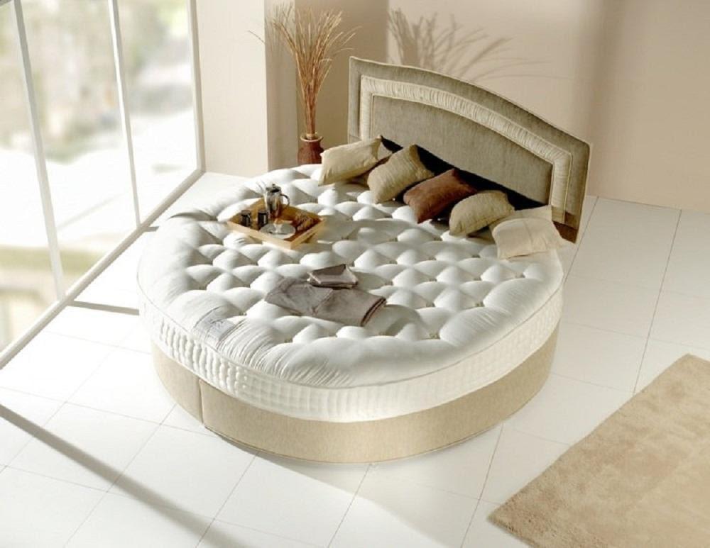 Mẫu giường ngủ tròn đệm lò xo