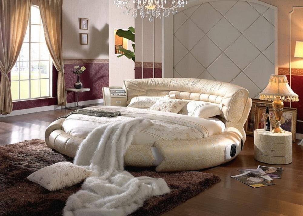 Mẫu giường ngủ tròn phong cách Hàn Quốc
