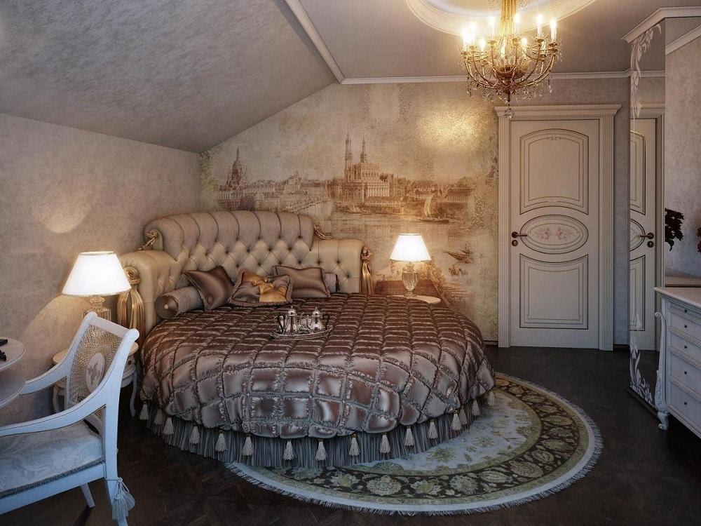 Mẫu giường ngủ tròn sành điệu